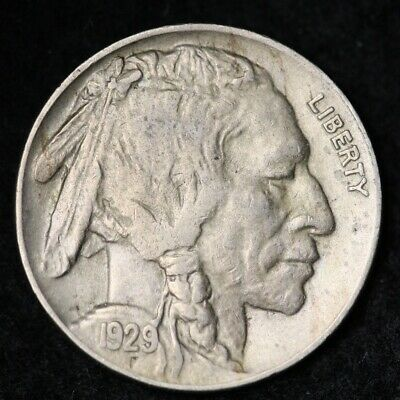 1929-D Buffalo Nickel CHOICE AU+ FREE SHIPPING E271 ANL