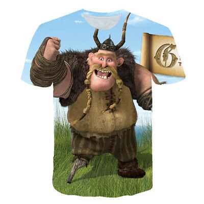 Women Men T-Shirt Short Sleeve Tee Top 3D Print How To Train Your Dragon Cartoon