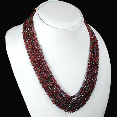 ATTRACTIVE WORLD CLASS 759.80 CTS NATURAL FACETED GREEN GARNET BEADS NECKLACE