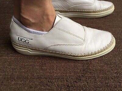 Ladies Ugg Vina Slip On White Sneaker Shoes Size 6