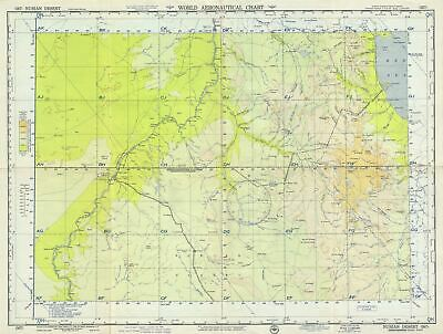 1957 U.S. Army Air Forces Aeronautical Chart or Map of Parts of Sudan and Egypt