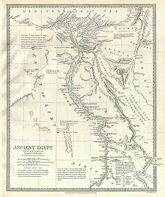 1831 S.D.U.K. Map of Ancient Egypt