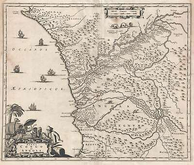 1686 Dapper Map Of Occidental Central