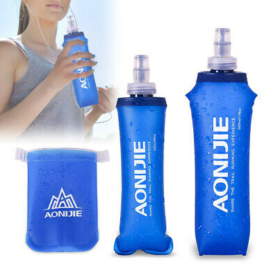 Soft Foldable Hydration Water Bottle Sport Running Flask TPU Outdoor Camping