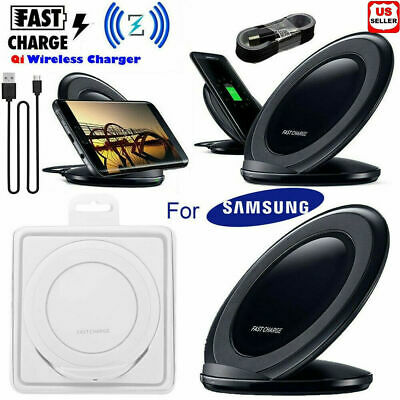 NEW Fast Qi Wireless Charger Stand Dock Pad For Samsung Galaxy S7 S7 Edge Note 5