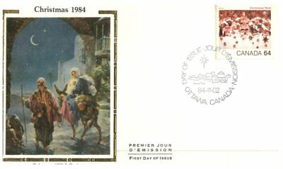(B6) Canada FDC Covers - Colorano Silk Cover - 1984 (3 covers)