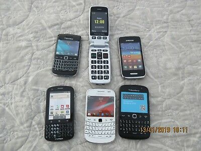 Lot de 6 TELEPHONES  PORTABLES  FACTICES Samsung, BlackBerry ETC.....