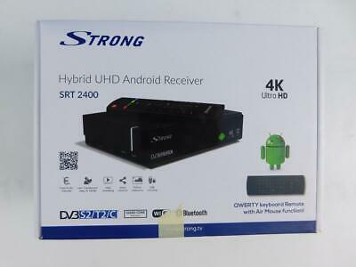 STRONG SRT 2400 Android Ultra HD Android TV Box 4K DVB-S2/C Receiver