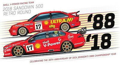 #17 Scott McLaughlin Shell Ford Falcon DJR Dick Johnson Sierra Sticker or Magnet