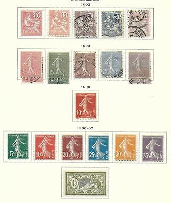France stamps 1902 Collection of 21 CLASSIC stamps HIGH VALUE!