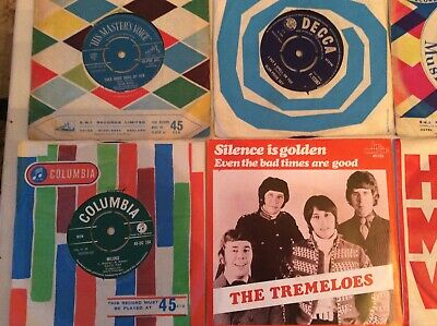 "SIXTIES RECORD COLLECTION 7"" vinyl records JOB LOT some RARE titles here X 24"