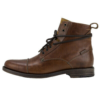 77401fd2 Levis Men's Leather Shoes, Emerson, Ankle Boots, Boots, Winter Shoes - Brown