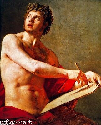 Jean-Auguste-Dominique Ingres Academic Study of a Male Torse Oil Painting repro
