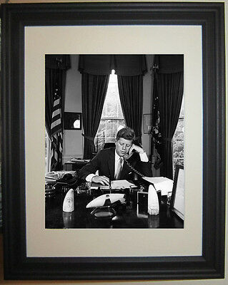 John F. Kennedy JFK Oval Office White House Framed Photo Photograph Picture