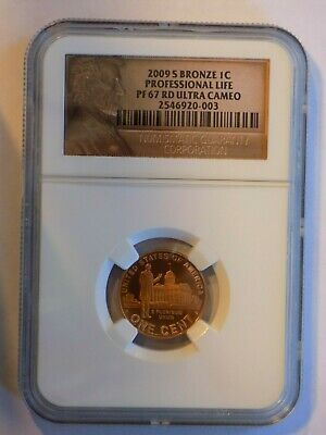 2009-S Lincoln Professional Life Bronze Cent 1c NGC PF67 RD Ultra Cameo