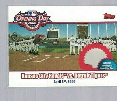 Kansas City Royals vs. Detroit Tigers 2006 Topps Opening Day Game Used Base Card