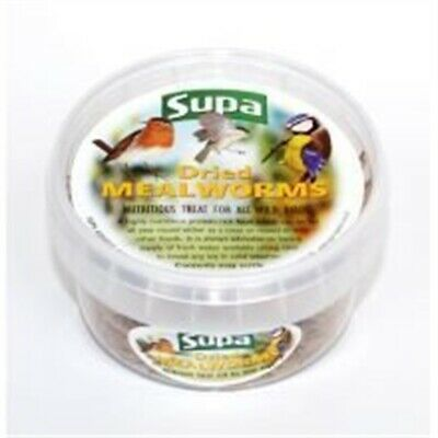 1 x 225ml Tub Of Dried Mealworms - Supa Bird Wild Foods