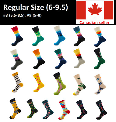 Casual Cotton Color Happy Socks Fashion Men Women Funny Socks Animal Fruit 6-9