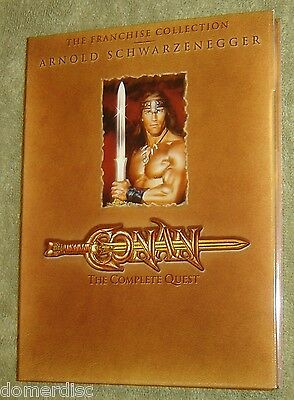 Conan: The Complete Quest DVD 2 Movies one dual sided Disc Arnold Schwarzinegger