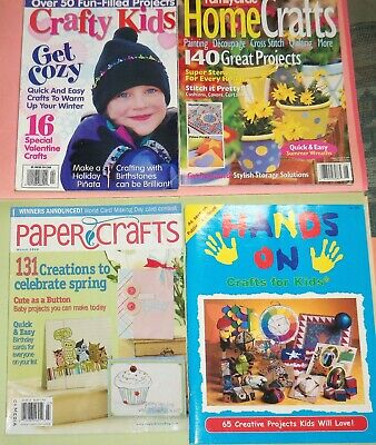 4 Crafts Magazines 115 Kids Crafts,  Family Circle Home Crafts,  Paper Crafts