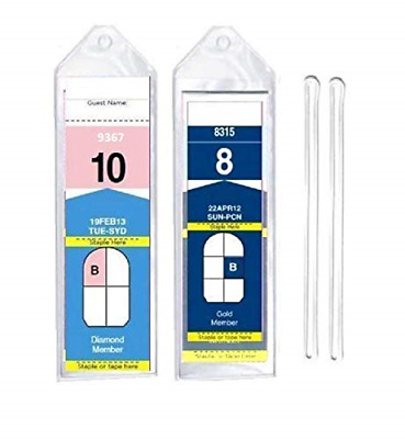 "8 Pack of Cruise Ship Luggage Tags Narrow with 6"" Loops for Royal Caribbean and"