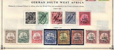 German So West Africa & New Guinea Collection from Scott International Album