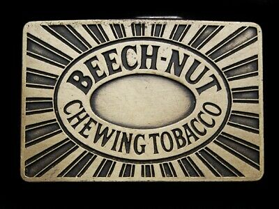 NA09136 *NOS* VINTAGE 1970s **BEECH-NUT CHEWING TOBACCO** BELT BUCKLE
