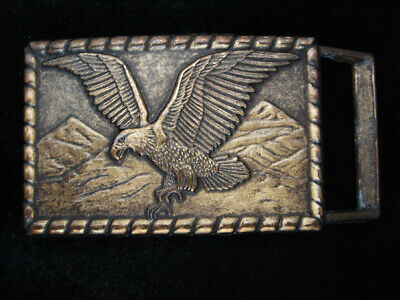 QL17104 VINTAGE 1980s **AMERICAN BALD EAGLE** COMMEMORATIVE BELT BUCKLE