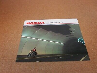 ORIGINAL 1981 Honda CB750 Custom motorcycle sales brochure literature 4 page