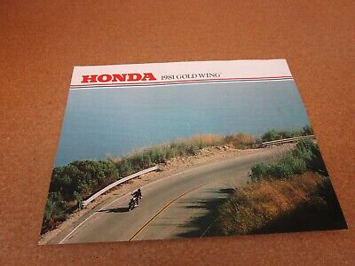 ORIGINAL 1981 Honda Gold Wing motorcycle sales brochure literature 4 page