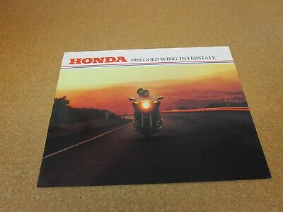 ORIGINAL 1981 Honda Gold Wing Interstate motorcycle sales brochure 4 page
