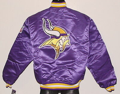 release date: d4852 db7f7 VINTAGE 80S MINNESOTA VIKINGS STARTER Jacket SATIN BACK PATCH NWT NEW Old  Stock