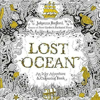 Lost Ocean: An Inky Adventure & Colouring Book by Basford, Johanna, NEW Book, FR
