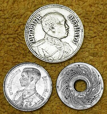 THAILAND:- 3 different scarce early 20th century circulation coins. AP7438