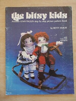 The Bitsy Kids~Betty McKay~Full-Size Doll Patterns~14pp~1982