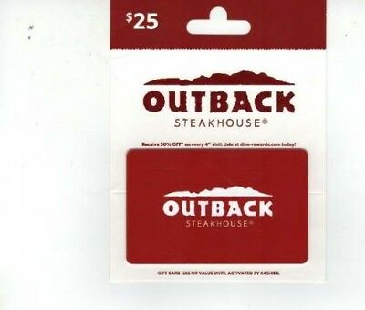 Outback Steakhouse / Bonefish Grill / Carrabba's  $25 Gift Card Email Delivery