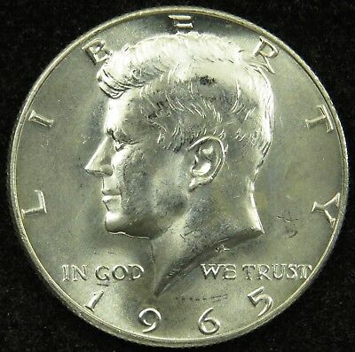 1965 Uncirculated 40% Silver Kennedy Half Dollar (B03)