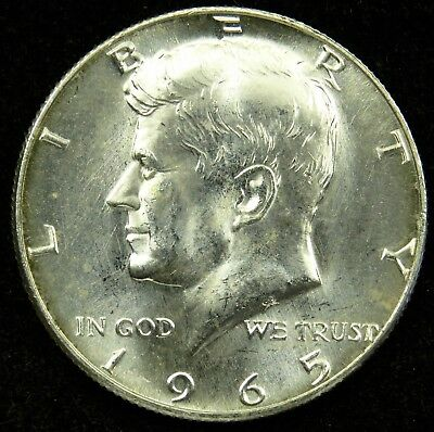 1965 Uncirculated 40% Silver Kennedy Half Dollar (B02)