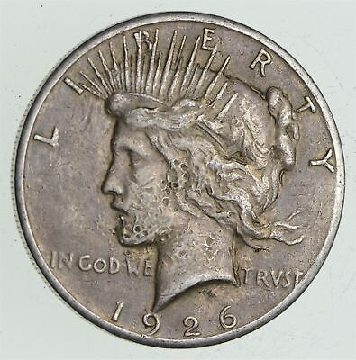 Early - 1926 - Peace Silver Dollar - 90% US Coin *681