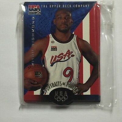 1996 Upper Deck Portraits of Power Sub Set Basketball Team USA