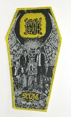 Napalm Death  Scum  Yellow Border Yellow Logo  WOVEN PATCH
