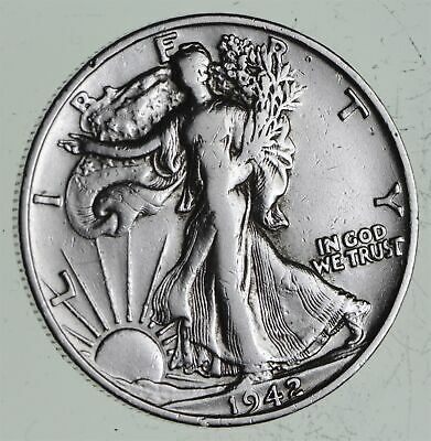 Strong Feather Details - 1942-S Walking Liberty Half Dollars - Huge Value *529