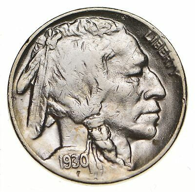 Mint Marked - FULL Horn - 1930-S Buffalo Nickel - SHARP *130