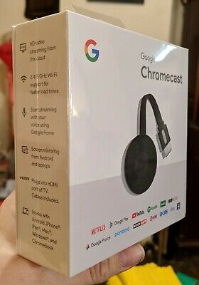 Google Chromecast  Digital HDMI Media Streaming Device (2018 Version) NEW