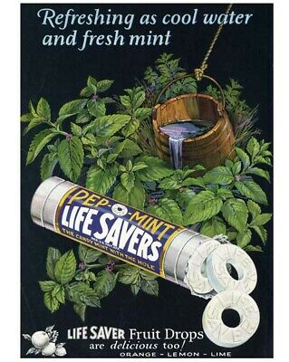 LIFE SAVERS PEP-O-MINT great high quality vintage ad from 1927 -- va022