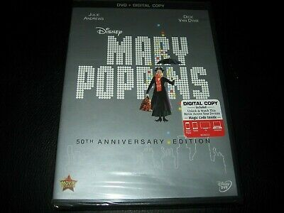 Mary Poppins Julie Andrews 50th Anniversary DVD digital New and Sealed