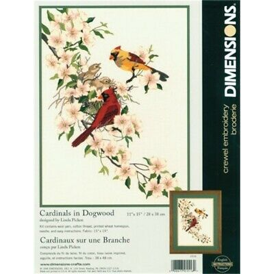 Dimensions Crewel Embroidery -cardinals In Dogwood - Cardinals Kit