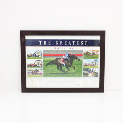 The Greatest Makybe Diva Limited Edition 75 x 56cm Framed Sports Print #710