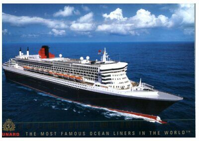 (DEL 1034) Postcard - Queen Elizabeth 2 Cruise Ship - posted from Australia