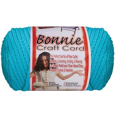 Bonnie Macrame Neon Craft Cord 4mmx100yd-artic Blue